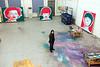 Le peintre Feng Zhengjie dans son atelier de Pékin. Beijing/Chine