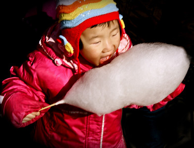 Cotton Candy Girl Beijing © Lewis Sandler Beijing Video Studio 2008