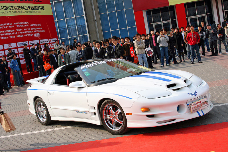 2001 Pontiac Firebird Trans AM V8. Beijing Car show 2008 © Lewis Sandler BeijingVideoStudio