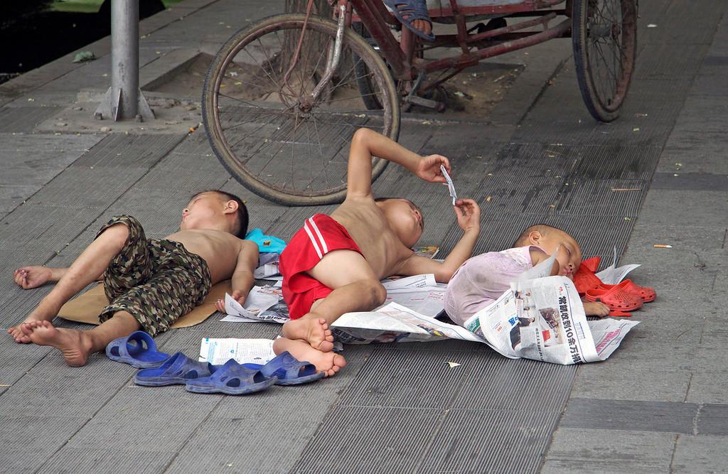 Taking a Break in Beijing © Lewis Sandler Beijing Video Studio July/10
