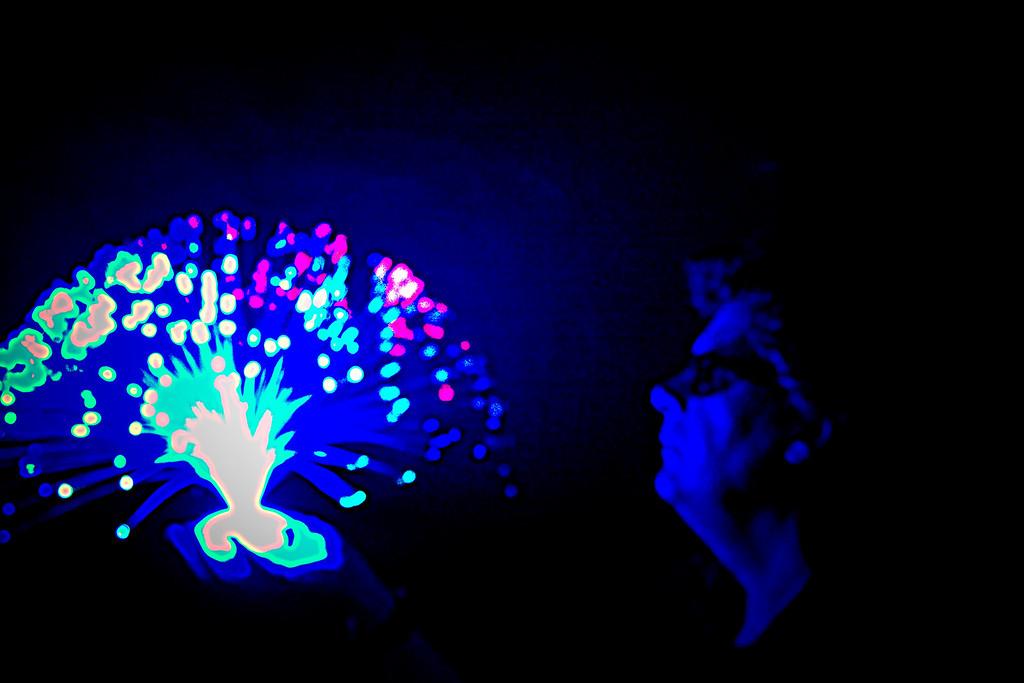 Beijing Man Creates Light ©Lewis Sandler Beijing Video Studio