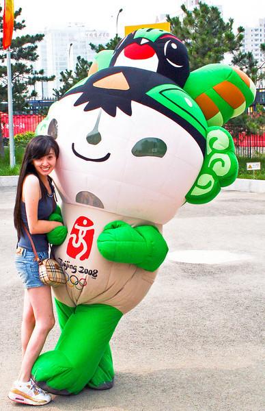 2008 Beijing Olympic Cutie © Lewis Sandler Beijing Video Studio