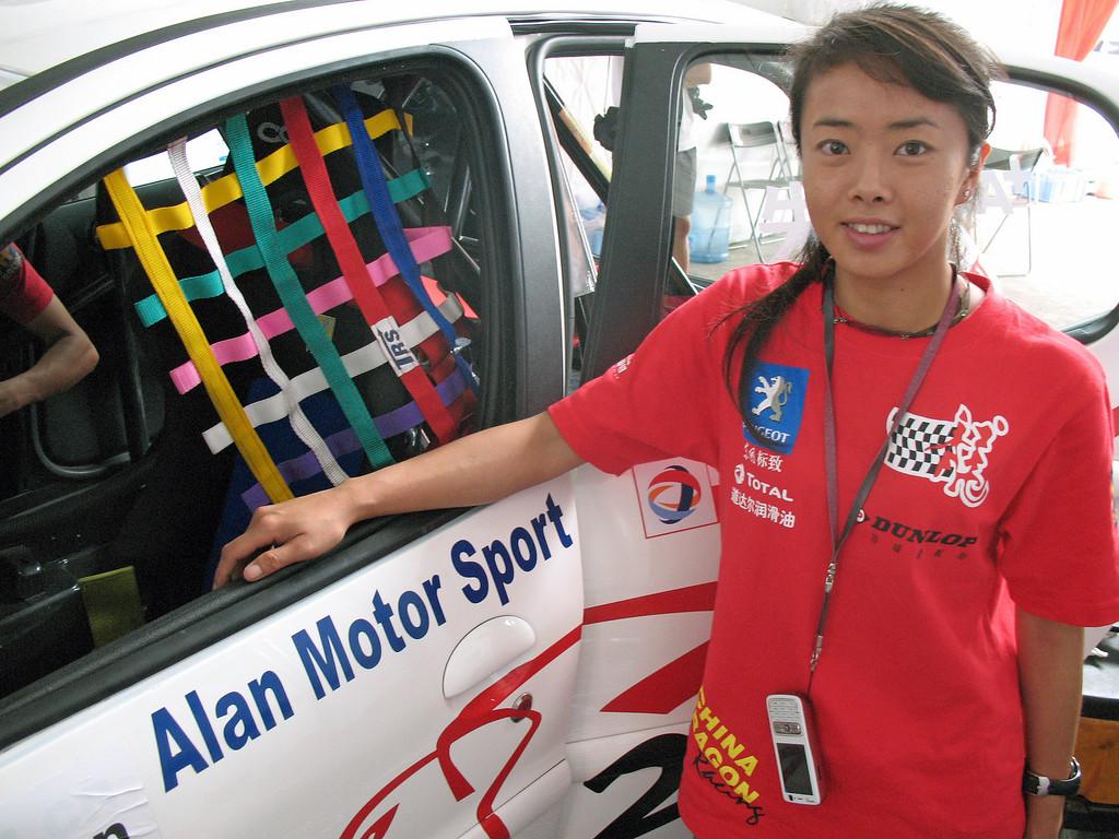 Mandy Zhu Beijing's top female Race Driver 2009 © Lewis Sandler Beijing Video Studio