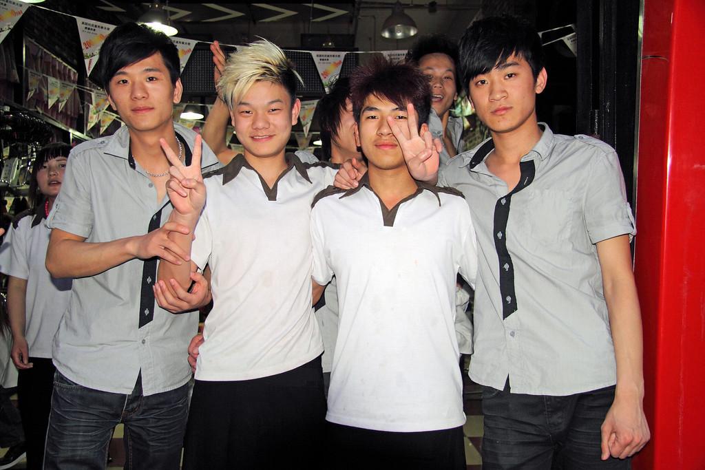 Salon Boys, Beijing © Lewis Sandler Beijing Video Studio