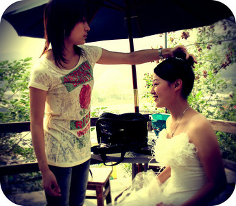 Wedding  Day, Beijing, Fragrant Hills May , 2008 © Lewis Sandler BeijingVideoStudio