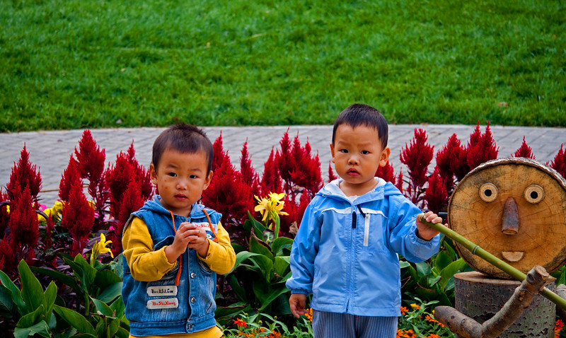 Children YuYuan Park 2010 © Lewis Sandler Beijing Video Studio