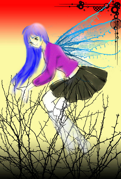 Angel, Japanese style comics (create by cherry)