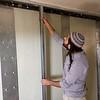 Securing shelter panels