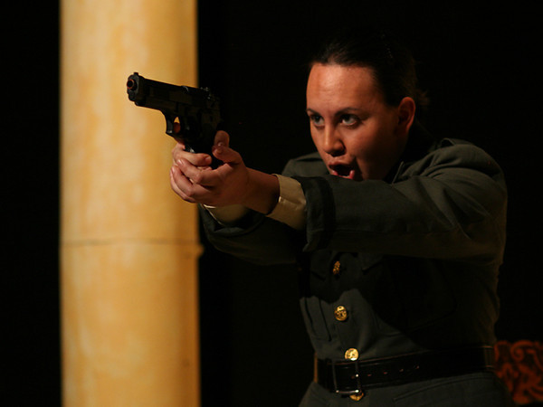 Act I <i> Segliatevi nel core</i>, Sesto: Francesaca Aguado,  Cornelia: Anamer Castrello.