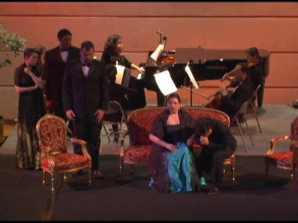 La Traviata 11 Act III, Finale  <i> E strano! </i>    Amy Call, Yong Suek Shim, Jerret Gieseler, Alex Boule, Aaron McNeil.