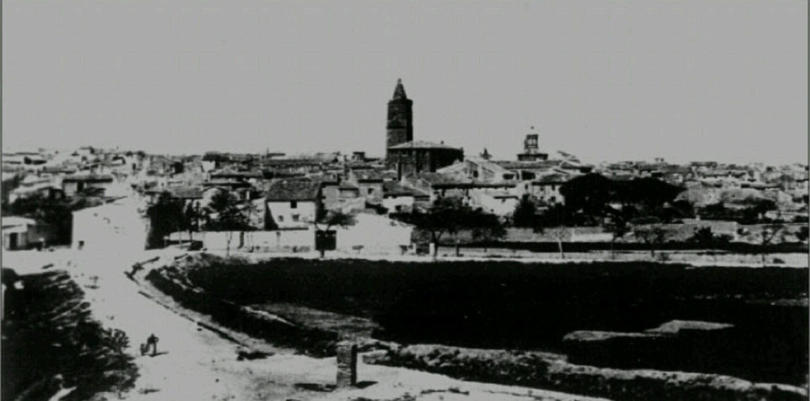 A very early photograph of Belchite taken prior to the battle in the Spanish Civil War.