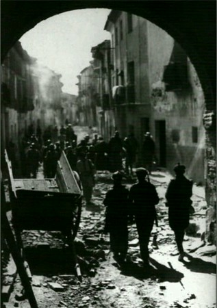 And this was how that same street looked some time between August and September 1937.