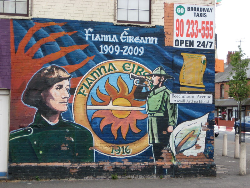 West Belfast Fianna Éireann Mural