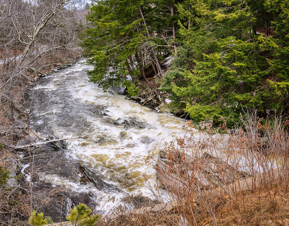 Passagassawakeag River Runoff in Belfast, ME 4-8-17