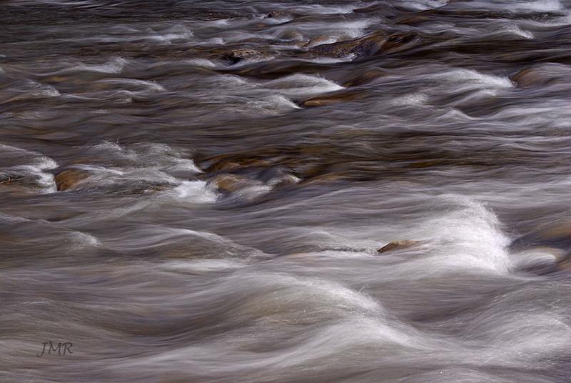 Forks of Credit river, focus on rapids