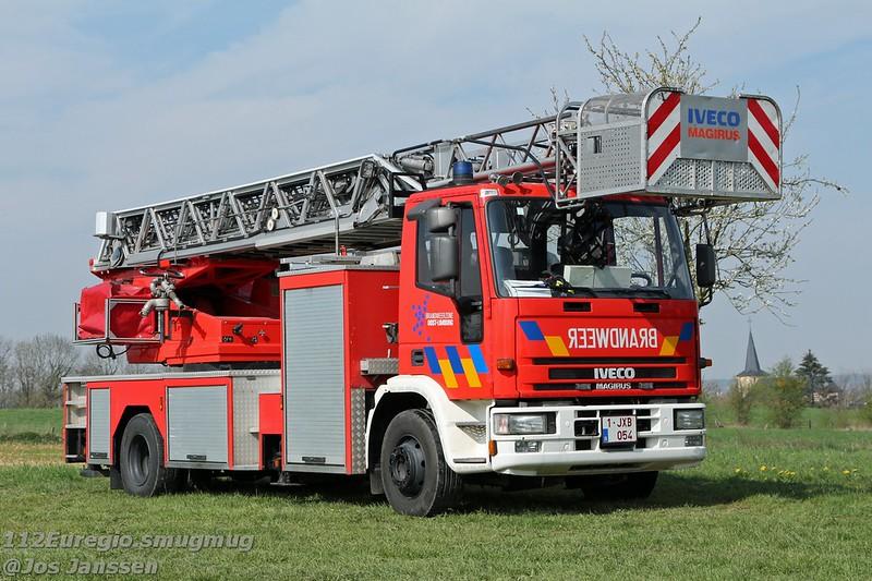 E71 Ladderwagen 30mtr. Iveco 150E27 Eurofire Magirus DLK 23-12 GL CS Rosenbauer, 1998 - in dienst 2018 ex E12 Genk