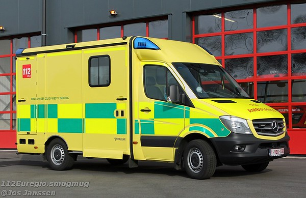 Z14 Ambulance Mercedes Sprinter 316CDI NVC3.1 Ambucar - Strobel, 2018 <br /> In dienst: 02-2019<br /> Voorzien van het Battenburg design.