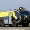 """F01Crashtender Rosenbauer Panther CA5 6x6 Rosenbauer Oostenrijk - Fire Technics, 2014<br /> <br /> Crashtender """"vier blusmiddelen"""" Belgische Luchtcomponent<br /> Militaire luchthaven Kleine-Brogel<br /> Type: Aircraft Rescue and Fire Fighting (ARFF) vehicle<br /> Merk: Panther CA5 6x6<br /> Opbouw: Rosenbauer Oostenrijk / Fire Technics<br /> Bouwjaar: 2014 (ter vervanging van de Fauns en de Steyrs)<br /> Tank: 10.000 liter water / 600 liter svm  / 250 kg poeder / 60kg  CO2<br /> Pomp: bronzen Rosenbauer R600 pomp voor 6000 liter/min. bij 10 bar.<br /> Hogedruk pomp HA voor 250 liter/min.<br /> HD haspel met 80 meter slang<br /> Haspel voor poederinzet met 30 meter vormvaste slang.<br /> Teklite lichtmast met twee led schijnwerpers van 42 Watt"""