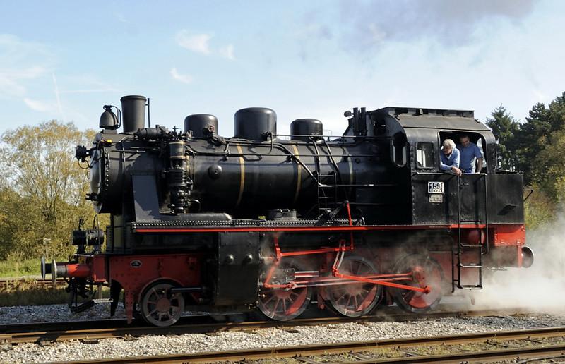 158, Mariembourg, Sat 23 September 2011 1 .  2-6-0T built by Henschel in 1940.