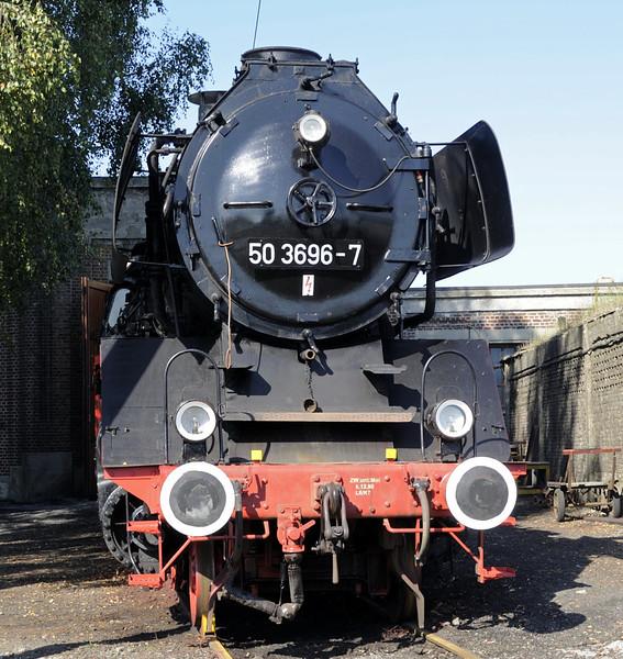 50 3696-7, Mariembourg, Sat 23 September 2011.  Built by Krupp in 1939.