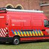 M21 Signalisatiewagen Opel Movano Asimex, 2007<br /> Vanaf maart 2012 is de (oorspronkelijke) materiaalwagen uitgerust met een signalisatiepaneel.<br /> Eind 2013 is de materiaalwagen omgebouwd tot signalisatiewagen.
