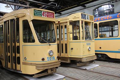 Brussels Tram Museum 5018_5008 Voluwe Depot 1 Apr 13