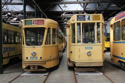Brussels Tram Museum 5018_5008 Voluwe Depot 2 Apr 13