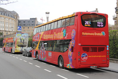 City Sightseeing Brussels 1DQT959 Keizerinlaaan Brussels 3 Apr 13