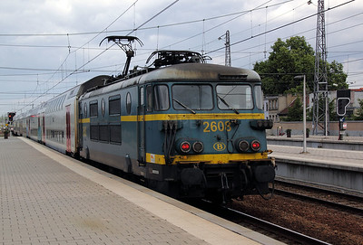 2608 at Brussels Nord on 8th July 2011 working IR3913 1316 Binche to Louvain La Neuve Universite