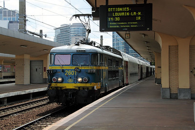 2601 at Brussels Nord on 8th July 2011 working IR3913 1316 Binche to Louvain La Neuve Universite