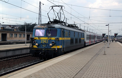 2362 at Brussel Nord on 11th July 2011