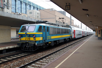 2729 at Brussel Nord on 11th July 2011