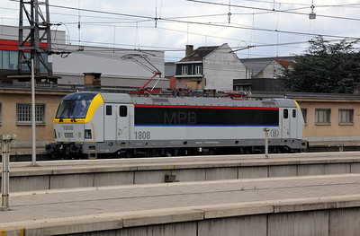 1808 (uic 91 88 0180 080-9 B-B) at Brussels Nord on 8th July 2011