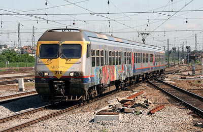 370 at Brussels Nord on 23rd June 2008