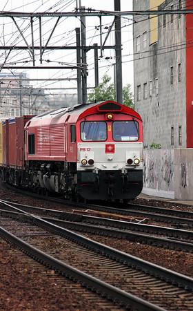1) Crossrail, PB12 (92 80 1266 017-3 D-XRAIL) at Antwerp Berchem on 11th June 2012