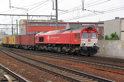 2) Crossrail, PB12 (92 80 1266 017-3 D-XRAIL) at Antwerp Berchem on 11th June 2012