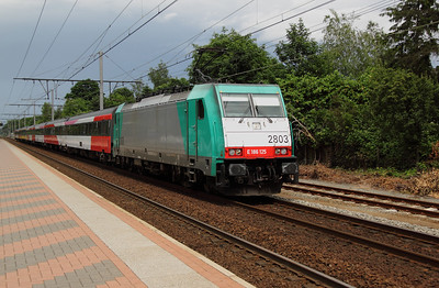 2803 at Kapellen on 11th June 2012 working IC9240