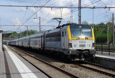 1866 (91 88 0180 660-8 B-B) at Welkenraedt on 11th May 2016 (2)
