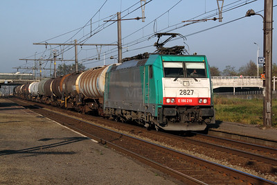 2827 (91 88 7186 219-2 B-B) at Antwerp Noorderdokken on 14th November 2011
