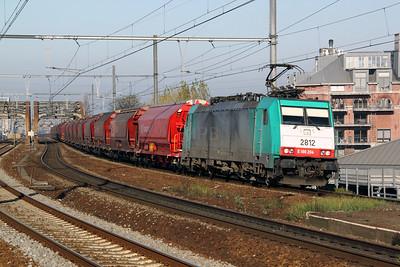 2812 (91 88 7186 204-4 B-B) at Antwerp Dam on 14th November 2011