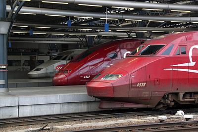 Thalys at Brussel Midi on 13th November 2011