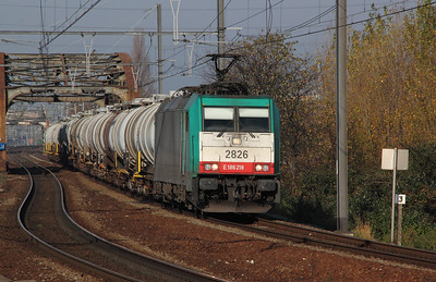 2826 (91 88 7186 218-4 B-B) at Antwerp Dam on 14th November 2011