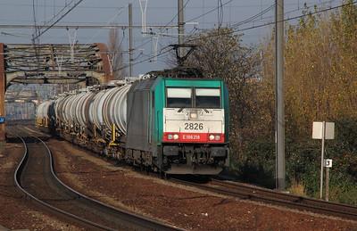 2826 (91 88 7186 218-4 B-B) at Antwerp Dam on 14th November 2011