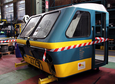1) 2725 cab at Salzinnes Works on 22nd October 2011