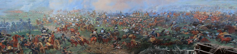 Backdrop painting for the Battle of Waterloo diorama, in Belgium.