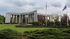 Panorama of the Bastogne War Museum grounds, a tribute to the Battle of the Bulge.