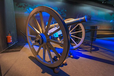 A period cannon like one of the hundreds used in the battle. The battle claimed over 48,000 lives on both sides.