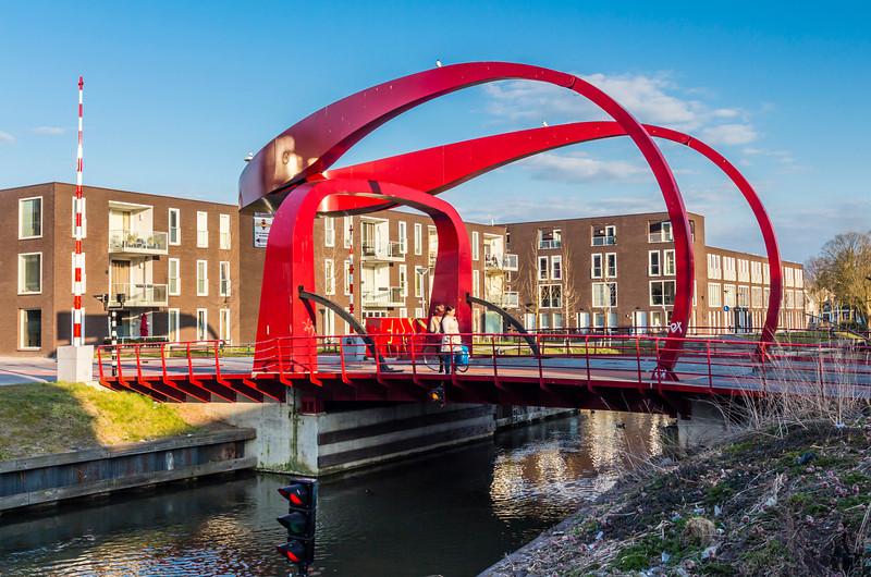 THE NETHERLANDS-UTRECHT-RED BRIDGE