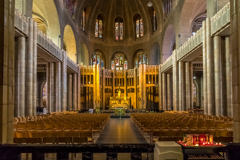 Belgium-Brussels-Capital Region-National Basilica of the Sacred Heart in Koekelberg