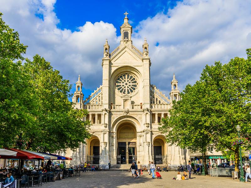 Belgium-Brussels-Capital Region-Eglise Sainte-Catherine